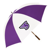 64 Inch Purple/White Umbrella-Primary Mark