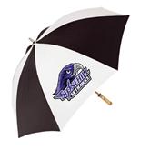 62 Inch Black/White Umbrella-Official Logo, Logo on white panel