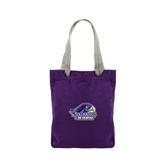 Allie Purple Canvas Tote-Official Logo