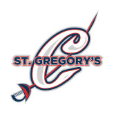 Medium Decal-St. Gregorys w/ C, 8 inches tall