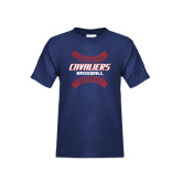 Youth Navy T Shirt-Cavaliers Baseball Seams