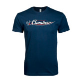 Next Level SoftStyle Navy T Shirt-Official Logo