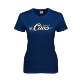Ladies Navy T Shirt-Cavs w/ Sword