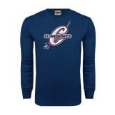 Navy Long Sleeve T Shirt-St. Gregorys w/ C