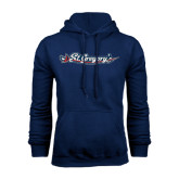 Navy Fleece Hood-St. Gregorys w/ Sword