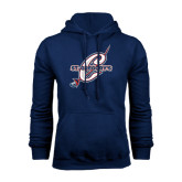 Navy Fleece Hood-St. Gregorys w/ C