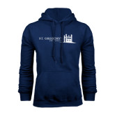 Navy Fleece Hood-University Mark