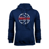 Navy Fleece Hood-Cavaliers Basketball Lined