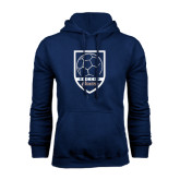 Navy Fleece Hood-Cavaliers Soccer Shield