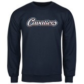 Navy Fleece Crew-Cavaliers Script