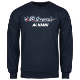Navy Fleece Crew-Alumni