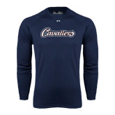 Under Armour Navy Long Sleeve Tech Tee-Cavaliers Script