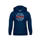 Youth Navy Fleece Hoodie-Cavaliers Basketball Lined