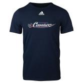 Adidas Navy Logo T Shirt-Official Logo