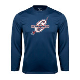 Syntrel Performance Navy Longsleeve Shirt-St. Gregorys w/ C