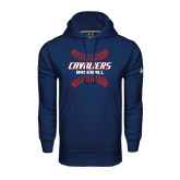 Under Armour Navy Performance Sweats Team Hood-Cavaliers Baseball Seams