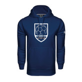 Under Armour Navy Performance Sweats Team Hood-Cavaliers Soccer Shield