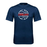 Performance Navy Tee-Cavaliers Basketball Lined