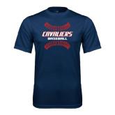 Performance Navy Tee-Cavaliers Baseball Seams