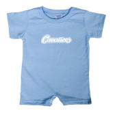 Light Blue Infant Romper-Cavaliers Script