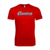 Next Level SoftStyle Red T Shirt-Cavaliers Script