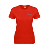 Ladies Red T Shirt-Official Logo