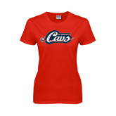 Ladies Red T Shirt-Cavs w/ Sword