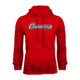 Red Fleece Hood-Cavaliers Script