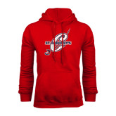 Red Fleece Hood-St. Gregorys w/ C