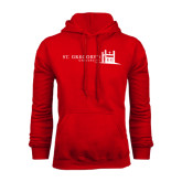 Red Fleece Hood-University Mark