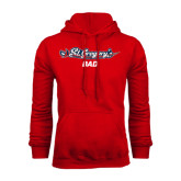 Red Fleece Hood-Dad