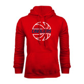 Red Fleece Hood-Cavaliers Basketball Lined
