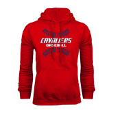 Red Fleece Hood-Cavaliers Baseball Seams