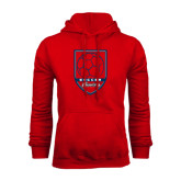 Red Fleece Hood-Cavaliers Soccer Shield