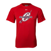 Under Armour Red Tech Tee-St. Gregorys w/ C