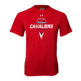 Under Armour Red Tech Tee-Cavaliers Lacrosse Abstract Stick Head