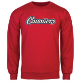 Red Fleece Crew-Cavaliers Script
