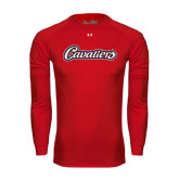 Under Armour Red Long Sleeve Tech Tee-Cavaliers Script