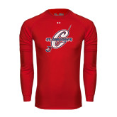 Under Armour Red Long Sleeve Tech Tee-St. Gregorys w/ C