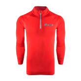 Under Armour Red Tech 1/4 Zip Performance Shirt-Cavaliers Script