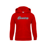 Youth Red Fleece Hoodie-Cavaliers Script