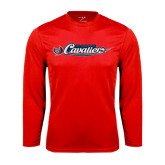Syntrel Performance Red Longsleeve Shirt-Official Logo