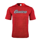 Performance Red Heather Contender Tee-Cavaliers Script