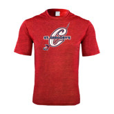 Performance Red Heather Contender Tee-St. Gregorys w/ C