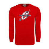 Red Long Sleeve T Shirt-St. Gregorys w/ C