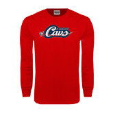 Red Long Sleeve T Shirt-Cavs w/ Sword