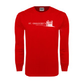 Red Long Sleeve T Shirt-University Mark