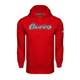 Under Armour Red Performance Sweats Team Hood-Cavaliers Script