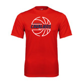 Performance Red Tee-Cavaliers Basketball Lined