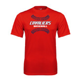Syntrel Performance Red Tee-Cavaliers Baseball Seams